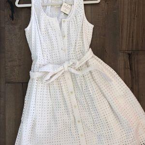 NWT Kate Spade Eyelet Knee Length Dress